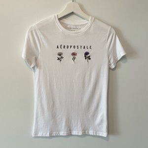 Aeropostale Embroidered Floral T-Shirt